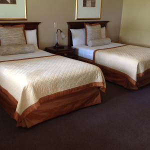 comfortable 2 double bed rooms